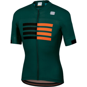 Sportful Wire Maillot de cyclisme Homme, sea moss black orange sdr